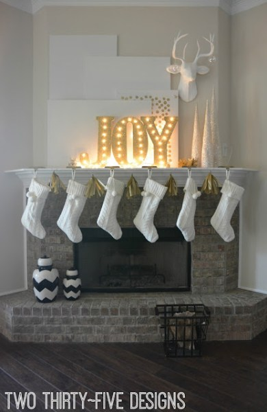 Get Ready To Decorate Your Fireplace Mantel For Christmas So May Fun And Unique Ideas In This List Of 30 Perfect Holiday Mantels Featured On Remodelaholic ComGet Ready To Decorate Your Fireplace Mantel For Christmas So May Fun And Unique Ideas In This List Of 30 Perfect Holiday Mantels Featured On Remodelaholic.com