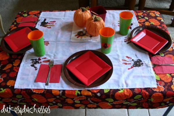 Kids Thanksgiving Table Dukes And Duchesses
