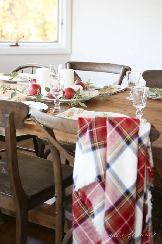 Last Minute Plaid Thanksgiving Table Julie Blanner