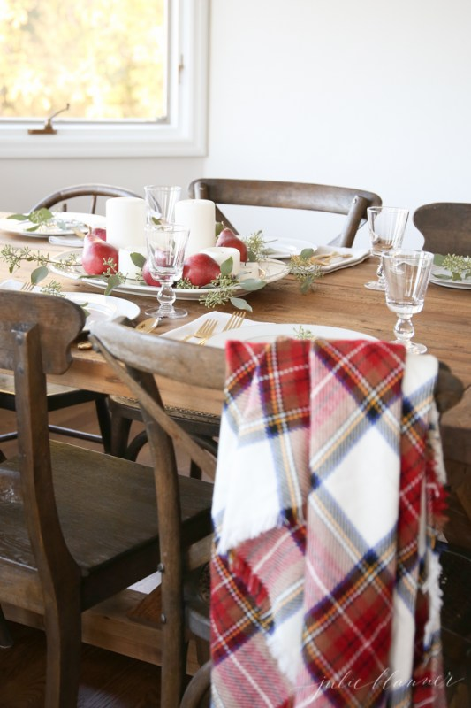 Last Minute Plaid Thanksgiving Table Julie Blanner