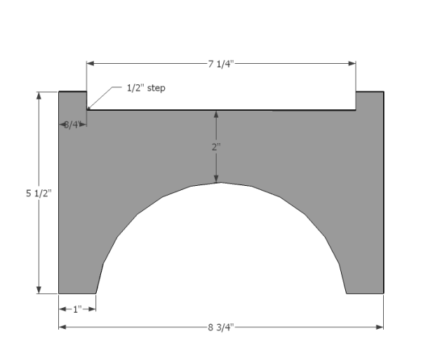 West Elm Planter Large Cutting Template 2
