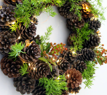 Diy Pinecone Wreath Remodelaholic Feat