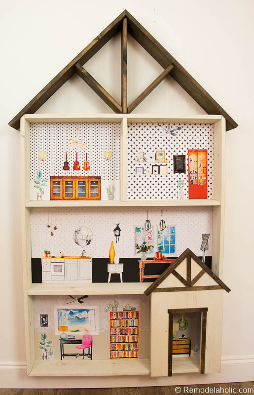 Dollhouse With Building Plan And Free Printables 27