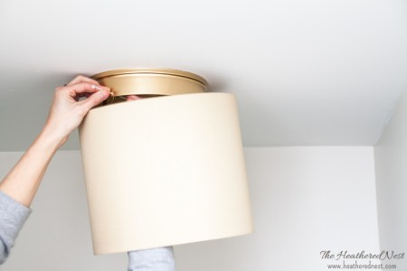 Heathered Nest Ban Your Boob Lights Upgrade Builder Grade Flushmounts Easy Diy Tutorials 2 2