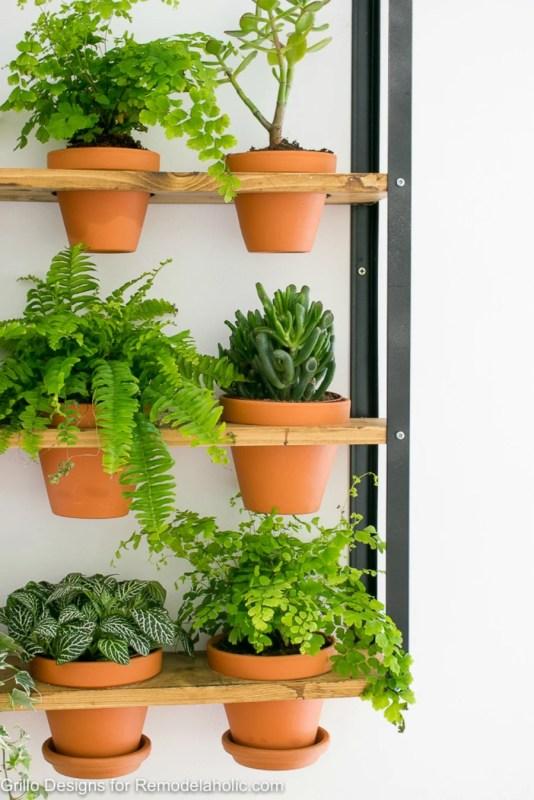balcony planter ikea Remodelaholic IKEA Hyllis Hack Industrial Wall Planter