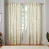 Modern Coastal Bedroom Canvas Curtains