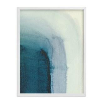 Modern Coastal Bedroom Modern Blue Watercolor Art