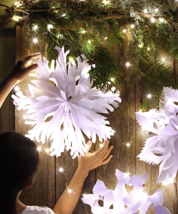 Paper Bag Snowflake Pendants Apieceofrainbowblog 20