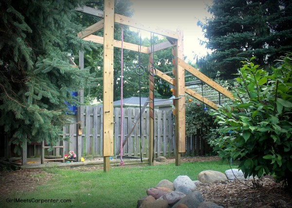 1 DIY American Ninja Warrior Course For Your Backyard! By Girl Meets Carpenter Featured On @Remodelaholic