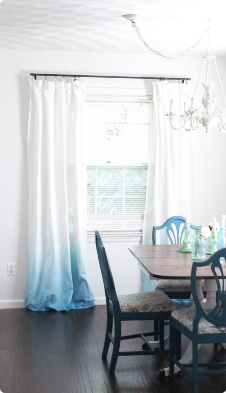 1 DIY Ombre Curtains With No Dipping! By Lovely Etc Featured On @Remodelaholic