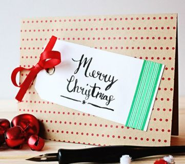 11 Easy DIY Christmas Cards