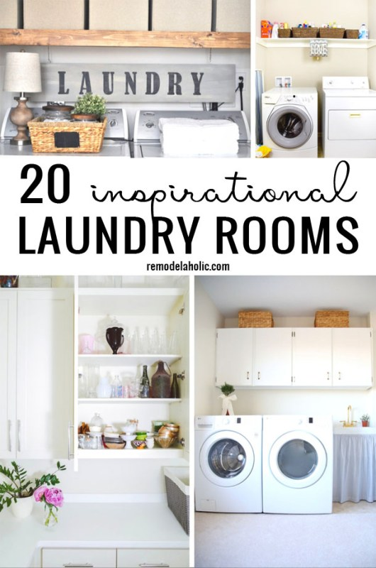 20 Inspirational Laundry Rooms Remodelaholic