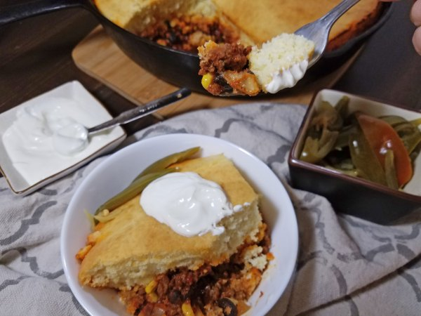one skillet chili and cornbread 2