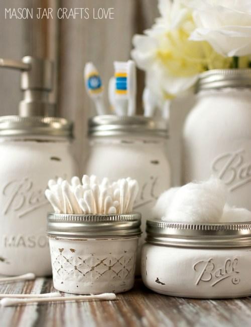 Bathroom Project Mason Jar Crafts Love