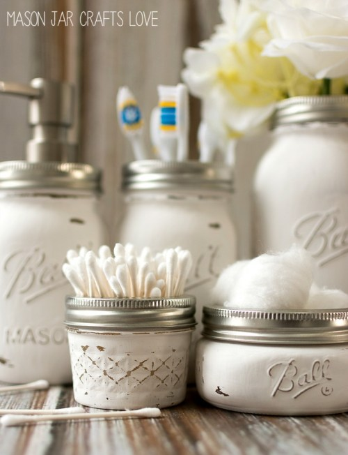 Bathroom Project Mason Jar Crafts Love