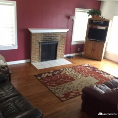 Living Room Color Schemes Burgundy Couch Wall Tiles Remodelaholic Real Life Rooms Neutral With A Replacing Red Is Easy But Working Around Furniture Not Quite As To Get Some Ideas For New Palette