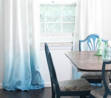DIY Ombre Curtains With No Dipping By Lovely Etc Featured On @Remodelaholic