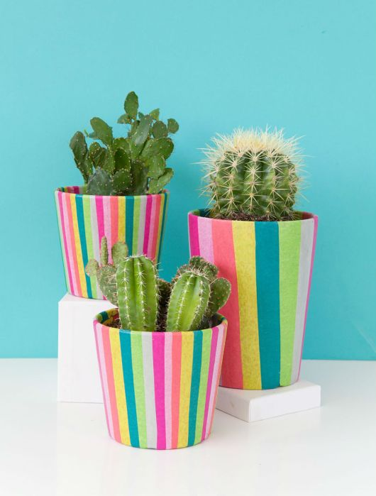 DIY Plant Pots Tell Love Party