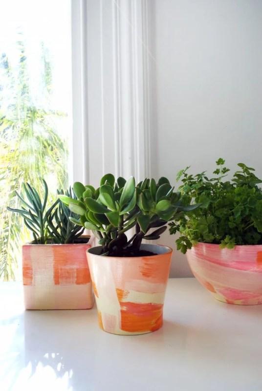 Printable Paper Flower Pot