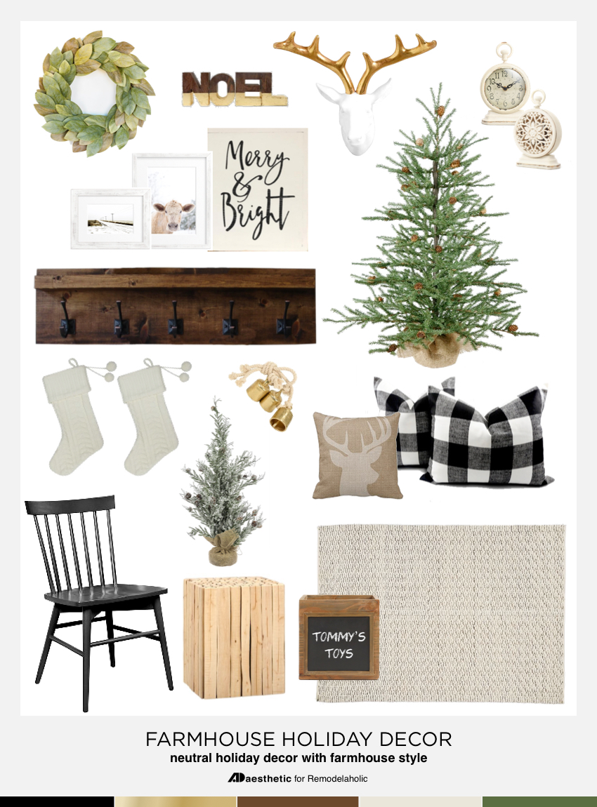 cow print chair slipcovers nz remodelaholic   neutral farmhouse holiday inspiration