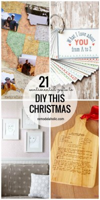 Pull On The Heartstrings With These 21 Sentimental Gifts To DIY This Christmas Featured On Remodelaholic.com