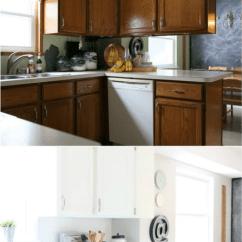 Bi Fold Kitchen Cabinet Doors Countertop Materials Remodelaholic | Diy Budget-friendly White ...