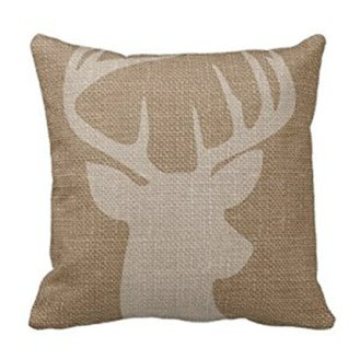 Deer Silhouette Burlap Pillow Amazon