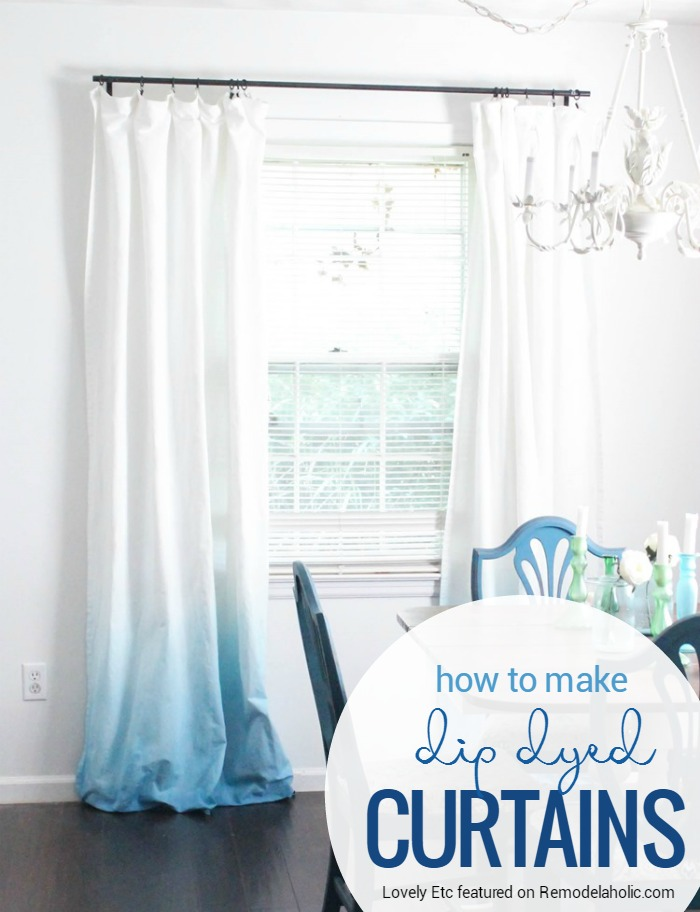 Preferred Remodelaholic | Make Your Own Ombre Dip Dye Curtains BE15