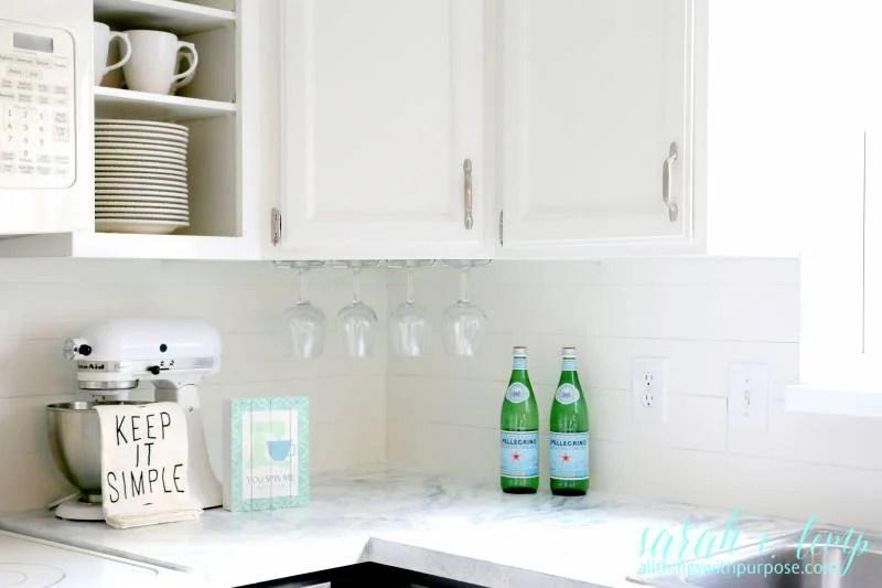 Remodelaholic  DIY BudgetFriendly White Kitchen