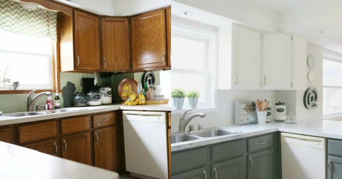 DIY Budget-Friendly White Kitchen Renovation with Shiplap Backsplash