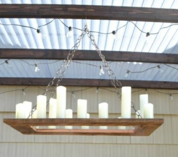 How to Make Your Own Rustic Candle Outdoor Chandelier