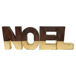 Gold And Wood Noel Letters Target