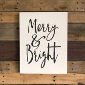 Merry And Bright Art Painted Fox Home