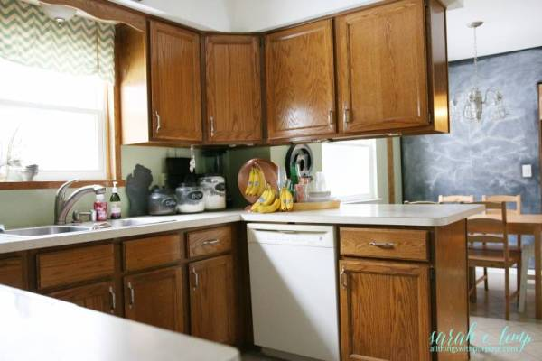 Oak Kitchen Before Renovation, All Things With Purpose Featured On @remodelaholic