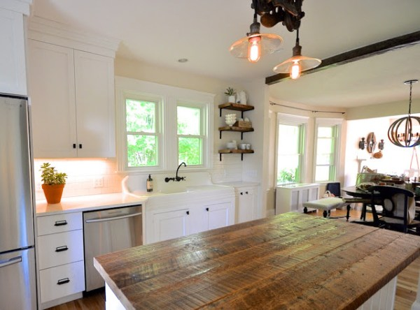 10 Cottage Kitchen Remodel Using Repurposed Wood, By SoPo Cottage Featured On @Remodelaholic