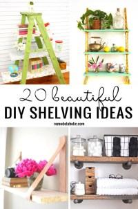 20 Beautiful DIY Shelving Ideas Remodelaholic
