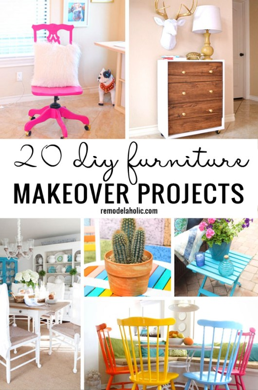 20 DIY Furniture Makeover Projects - Remodelaholic