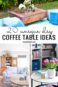 Remodelaholic | 20 Unique DIY Coffee Table Ideas