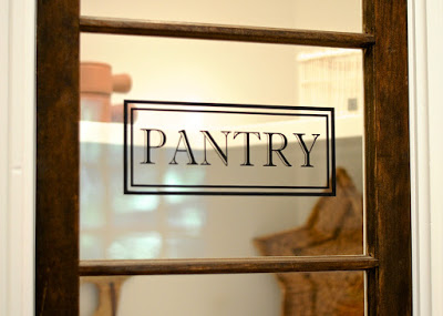 7 Glass Pantry Door In Kitchen, By SoPo Cottage Featured On @Remodelaholic