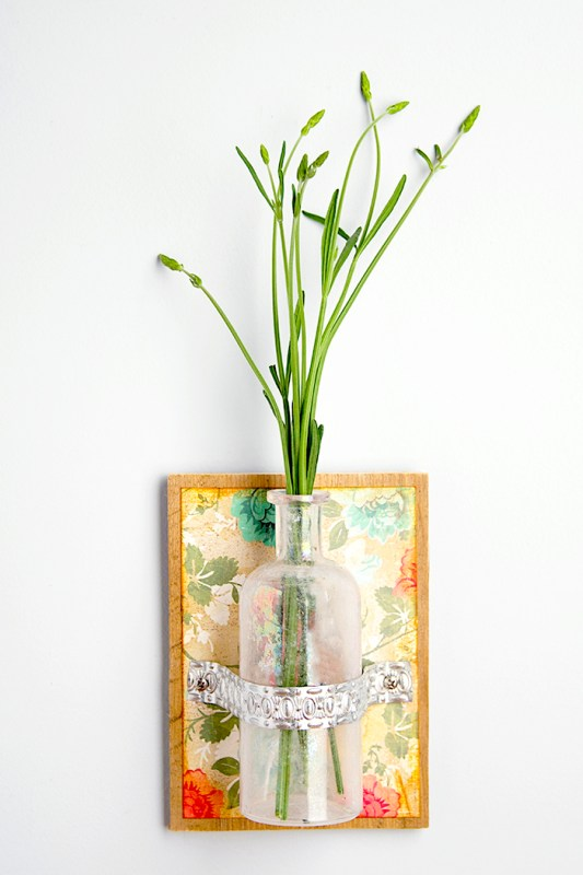 DIY Flower Vases Mod Podge Rocks