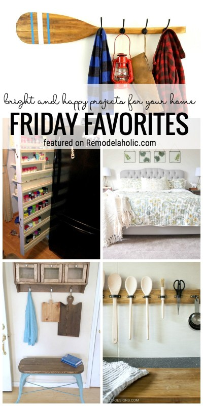 Find bright and happy projects for your home in this week's edition of Friday Favorites featured on Remodelaholic.com