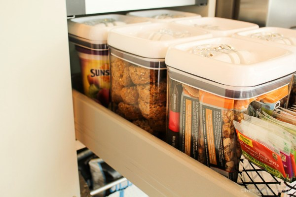 ORganized Snack Pantry For Family By @remodelaholic 12