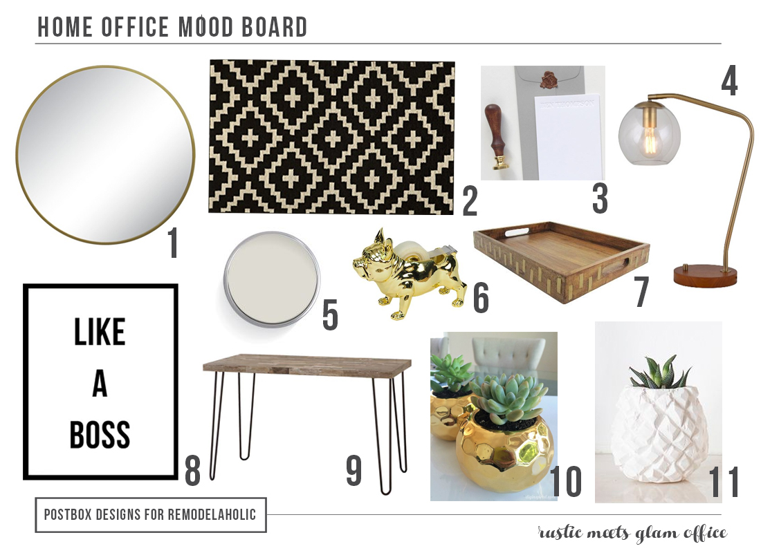 Home Office How To Mood Board by Postbox Designs