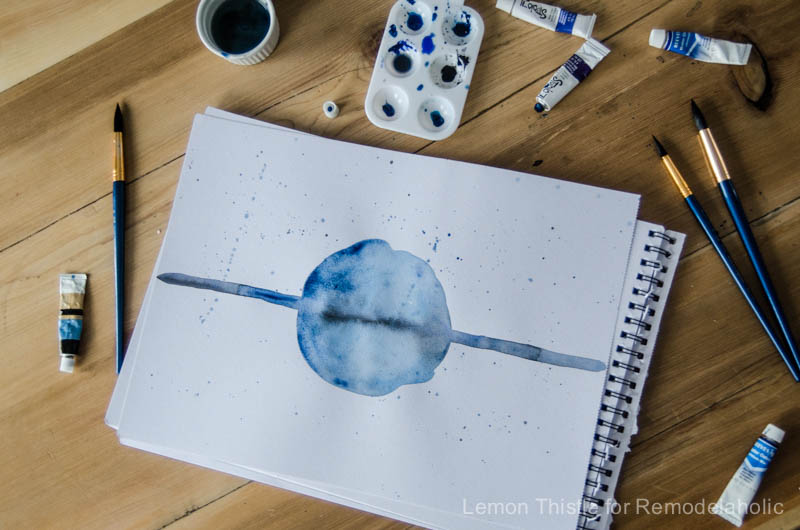 image about Free Printable Watercolor Pictures to Paint titled Remodelaholic Cost-free Printable Watercolor Artwork