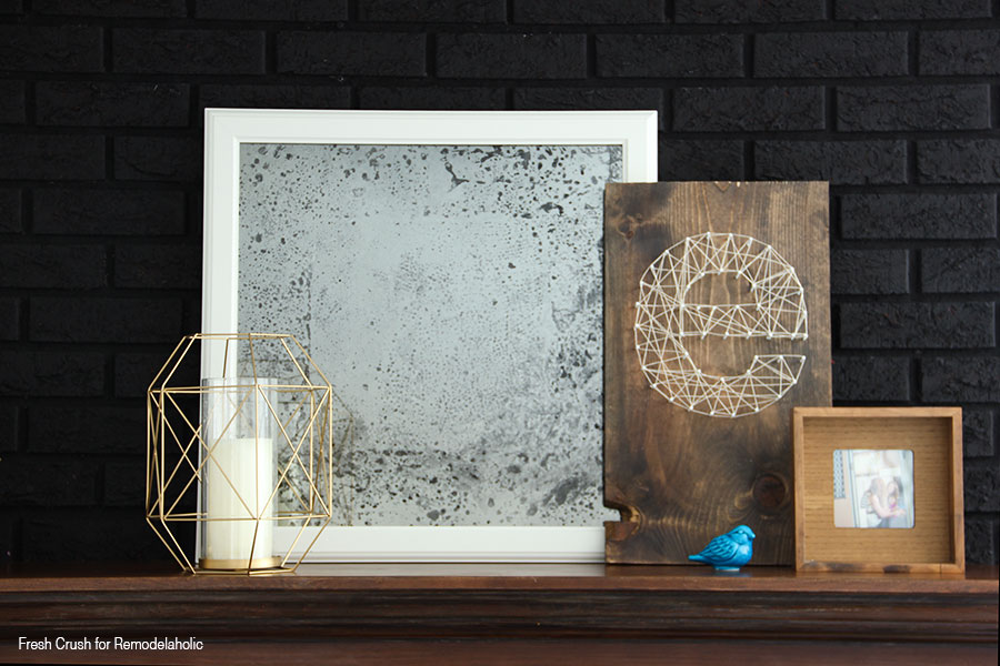 Diy Antique Mirror Black Brick3
