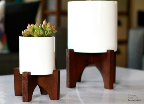Diy West Elm Knockoff Modern Wood Tabletop Planters Feat @Remodelaholic