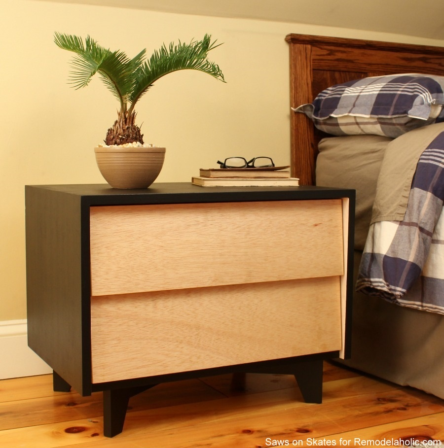Saws On Skates Mid Century Modern Nightstand Finished 10