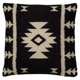 Southwestern Midcentury Black And White Pillow