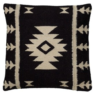 Southwestern Midcentury Black And White Pillow