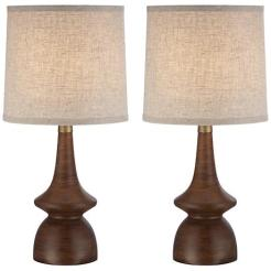 Southwestern Midcentury Walnut Table Lamps